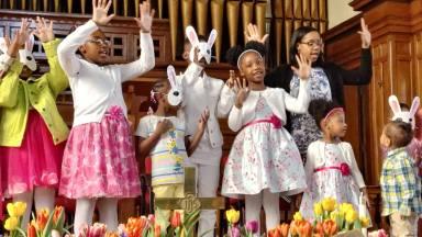 Easter Sunday Tashon and Kids (1)